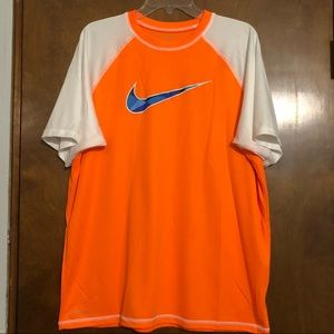 Nike Dri Fit Orange Shirt